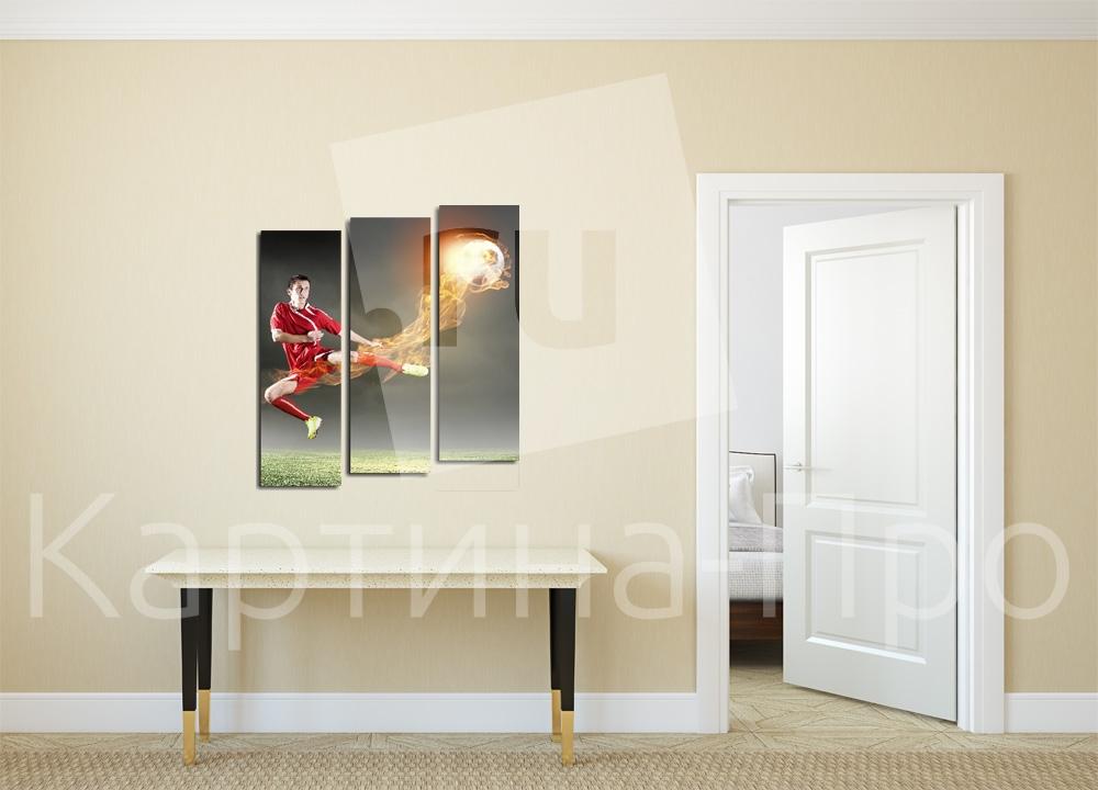 Модульная картина Удар футболиста от Kartina-Pro
