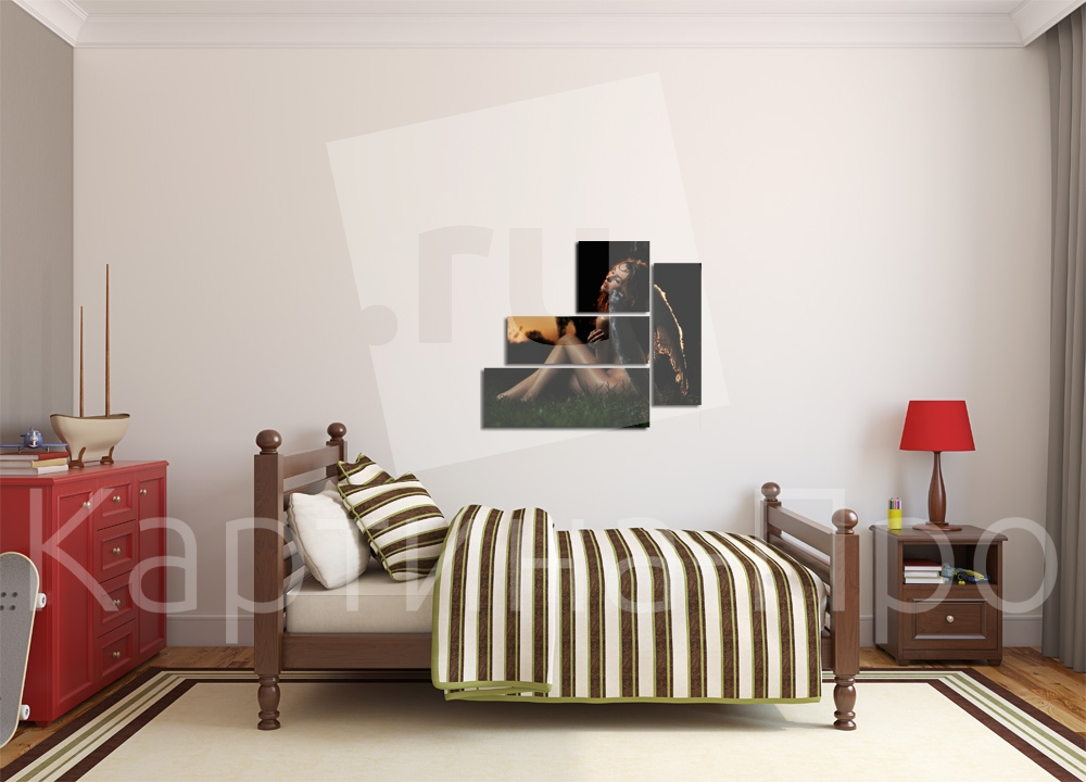 Модульная картина Девушка-ангел от Kartina-Pro