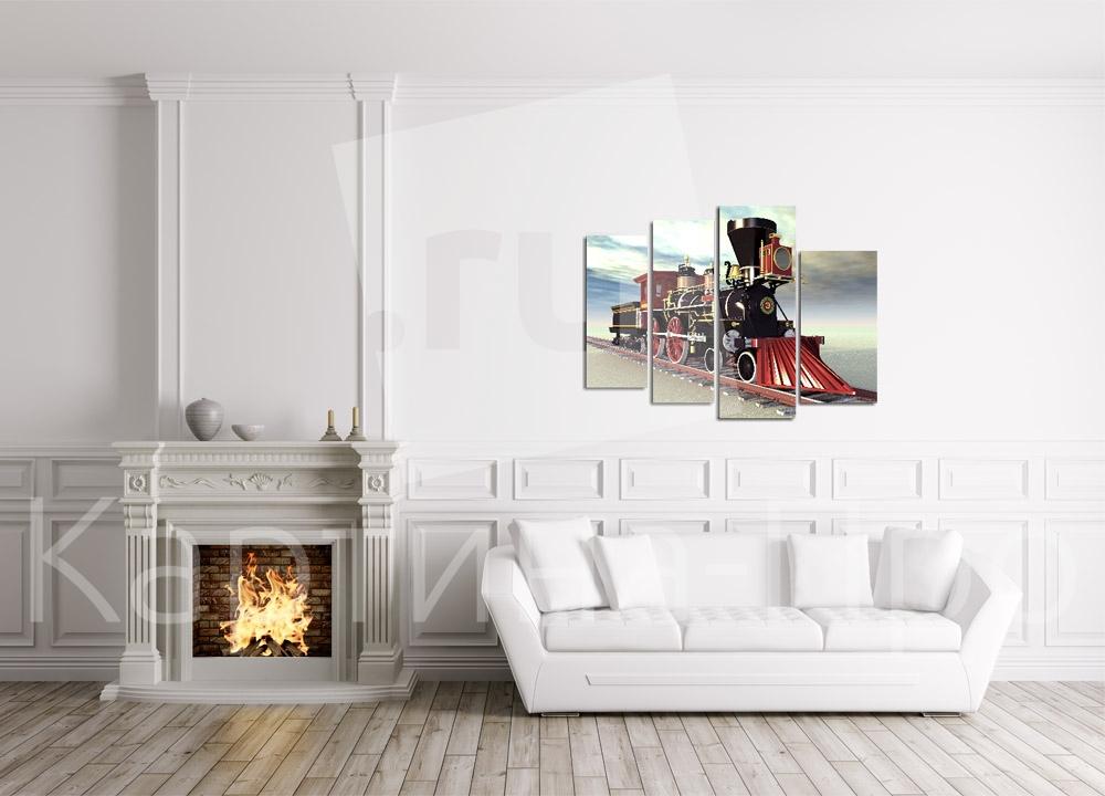 Модульная картина Паровоз от Kartina-Pro