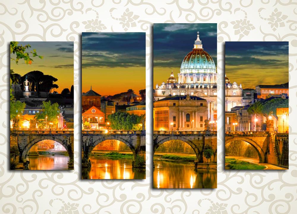 Модульная картина Вечерний Рим (Италия)