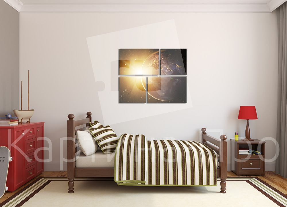 Модульная картина Солнце от Kartina-Pro