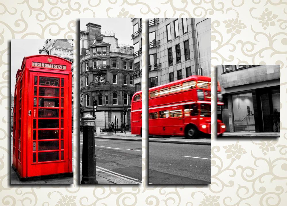 Модульная картина Красочный Лондон