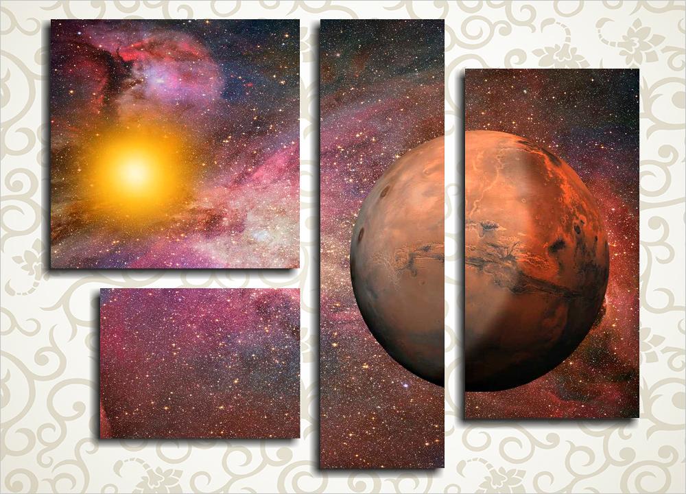 Модульная картина Марс