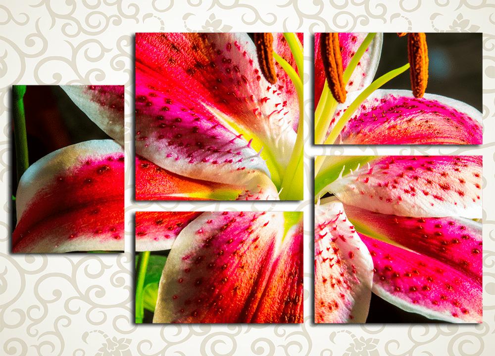 Модульная картина Тропические лилии