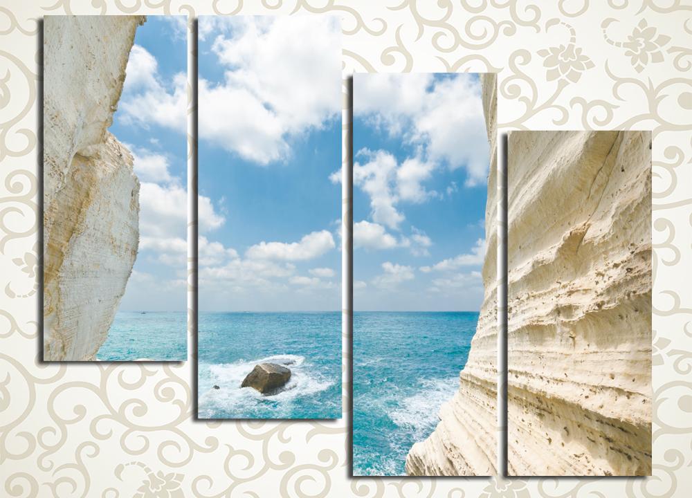 Модульная картина Скалы у моря