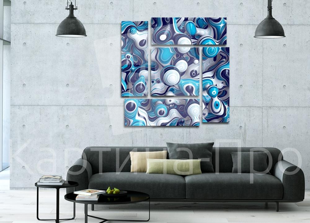 Модульная картина Капли краски от Kartina-Pro