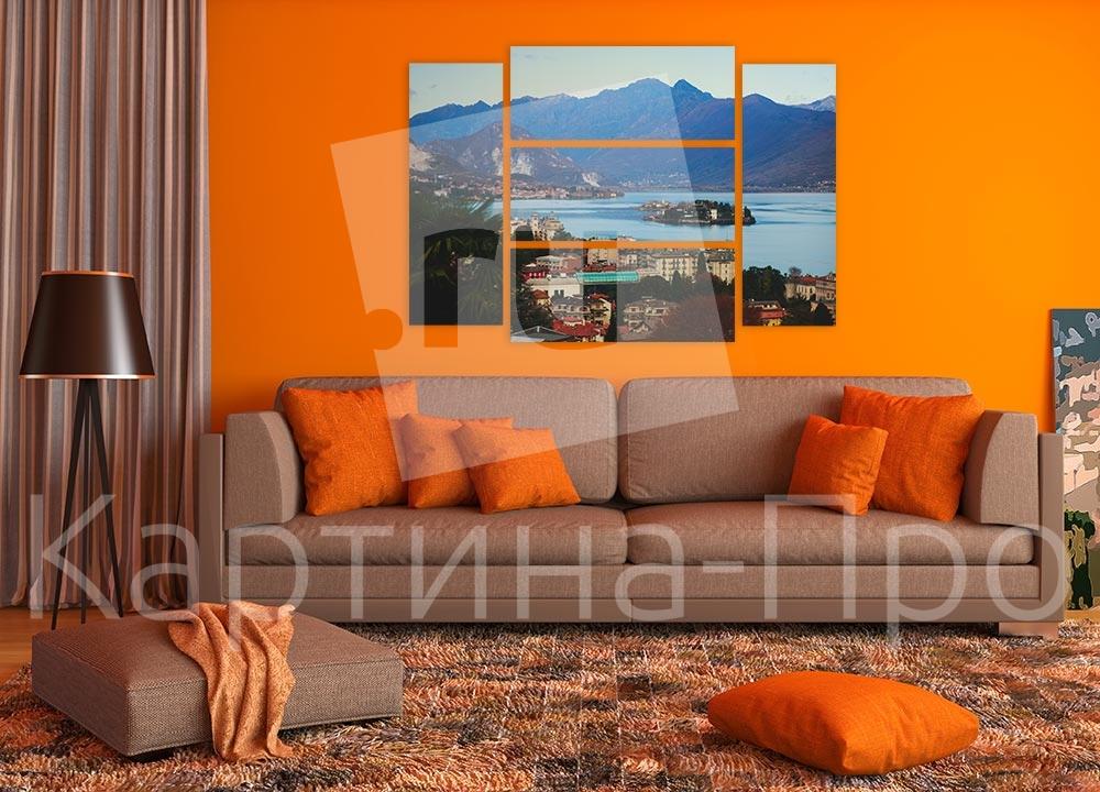 Модульная картина Горы в Неаполе (Италия) от Kartina-Pro