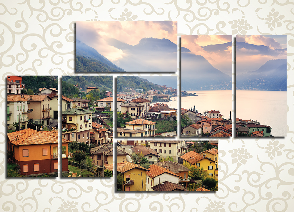 Модульная картина Милан на фоне Альп (Италия)