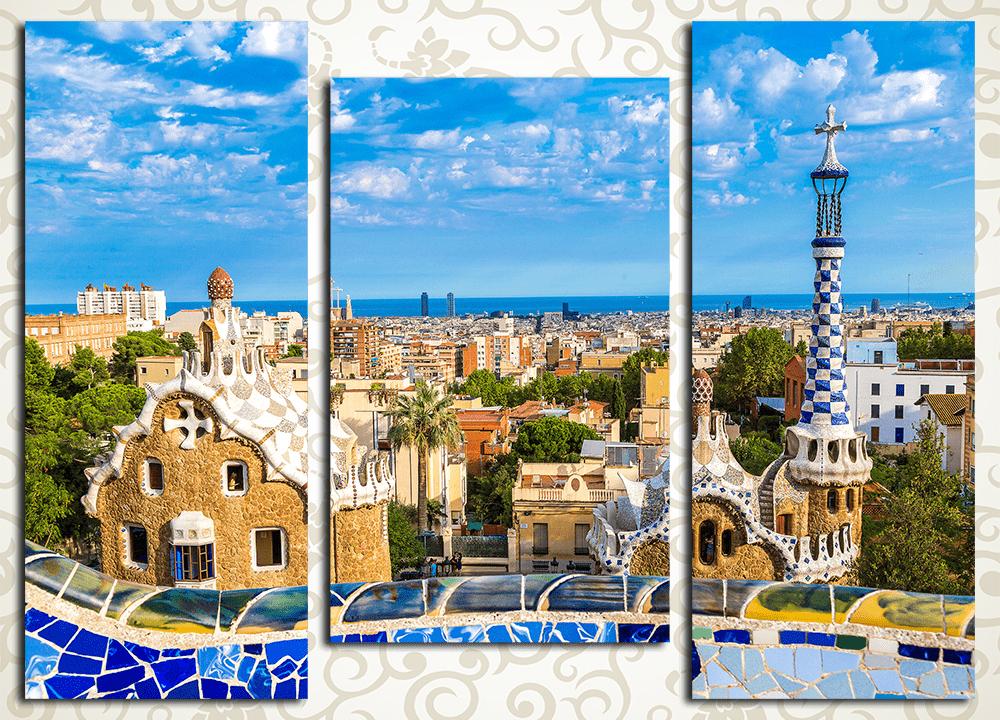Модульная картина Барселона глазами Гауди