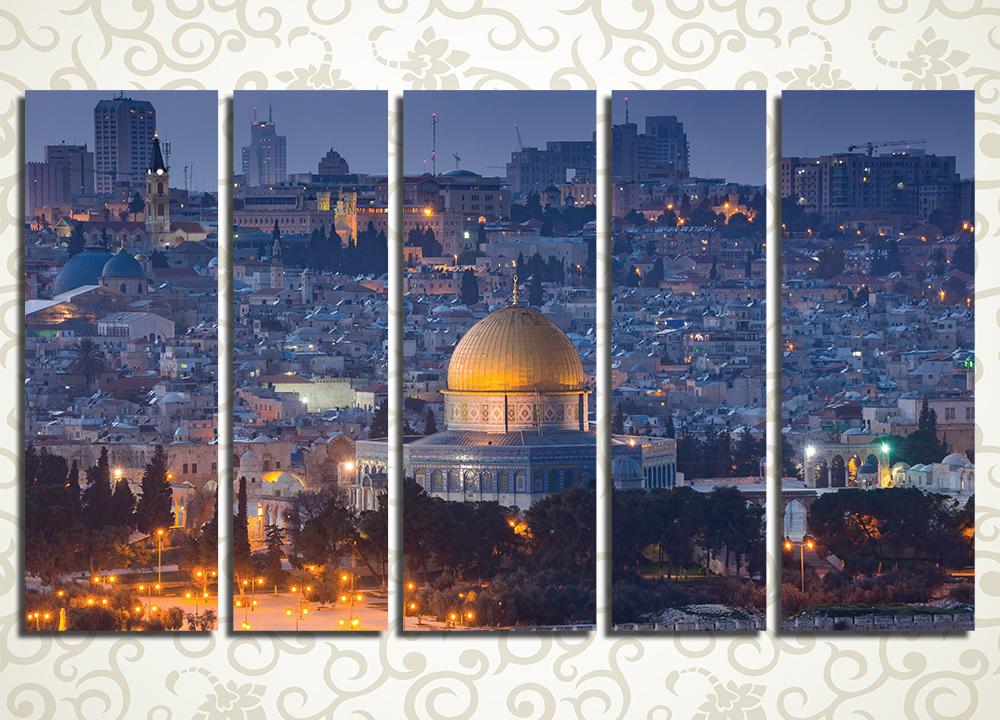Модульная картина Ночной Иерусалим (Израиль)