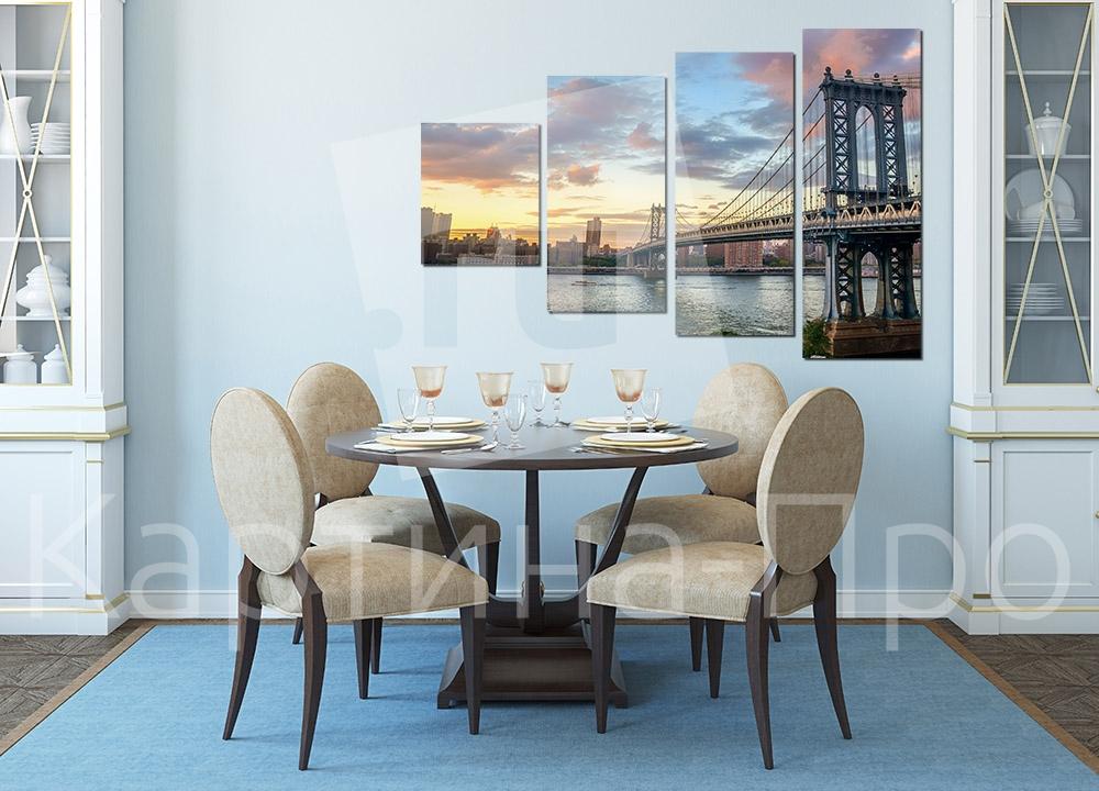 Модульная картина Бруклинский мост, Нью-Йорк (США) от Kartina-Pro