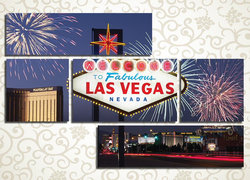 Модульная картина Праздник в Лас-Вегасе (США)
