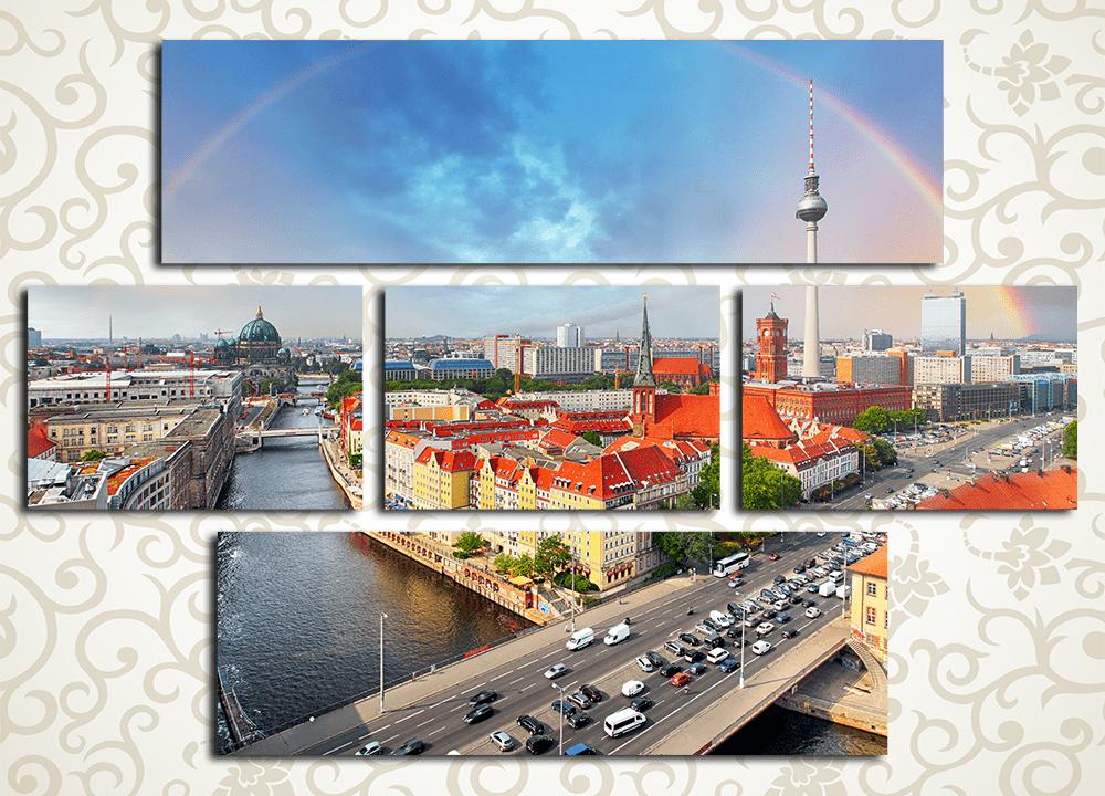 Модульная картина Радуга над Берлином (Германия)