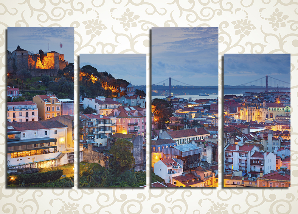 Модульная картина Вечерний Лиссабон