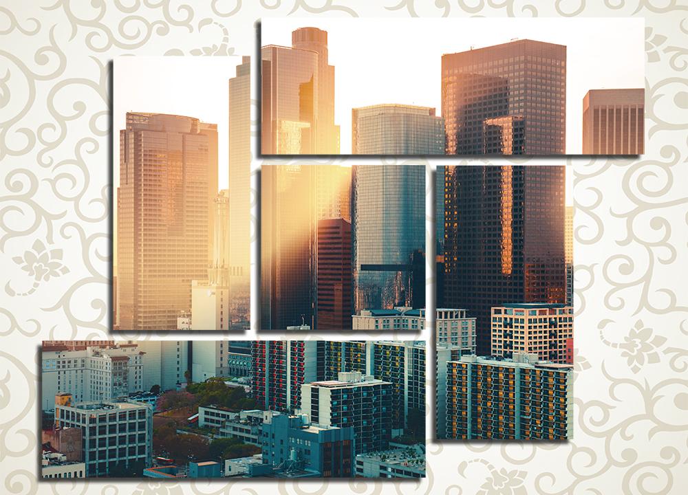 Модульная картина Рассвет в Лос-Анжелесе