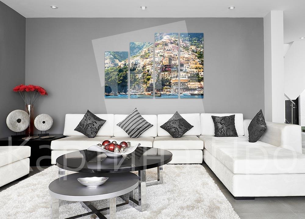 Модульная картина Позитано (Италия) от Kartina-Pro