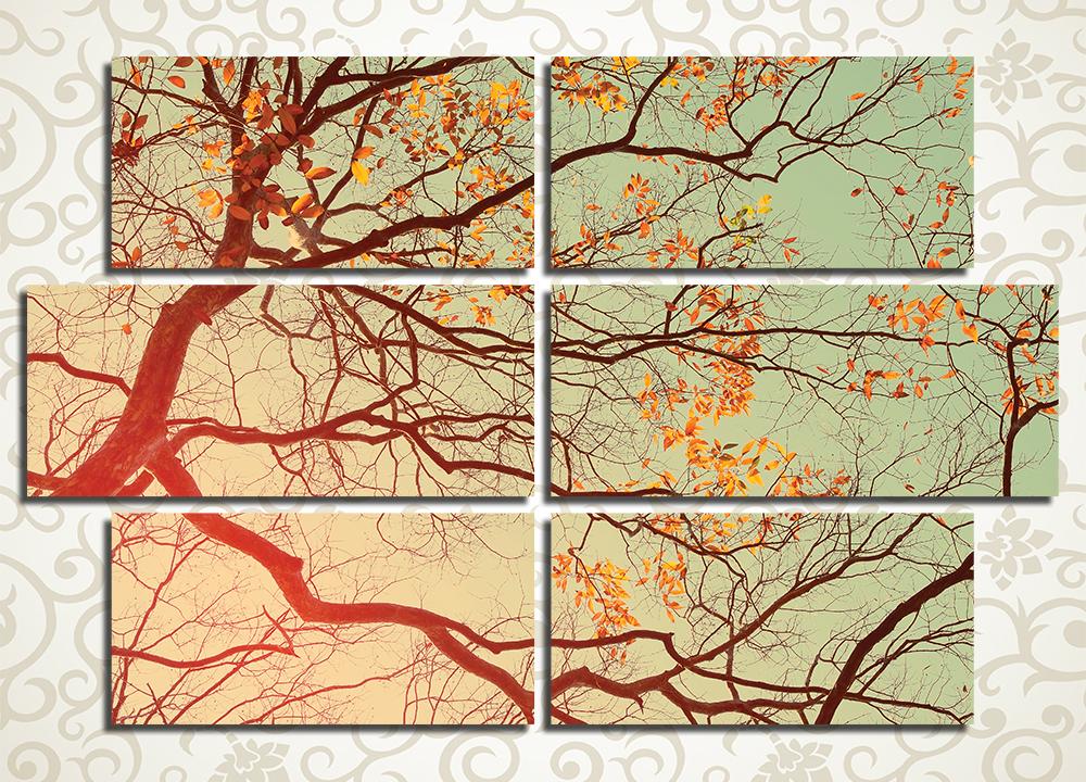Модульная картина Тонкие ветки дерева
