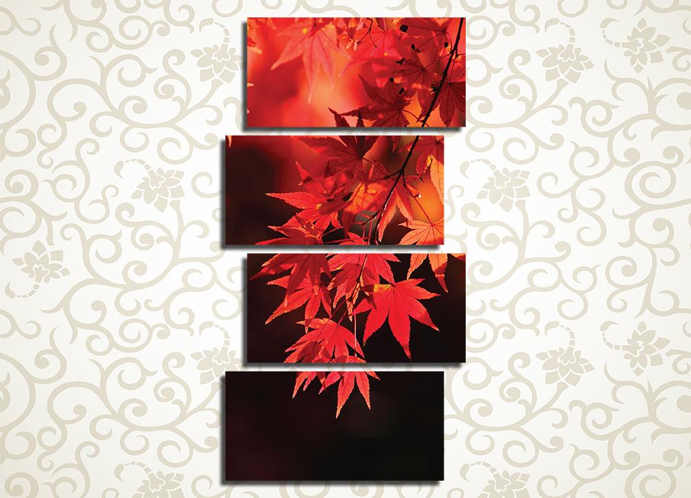 Модульная картина Осенние листья