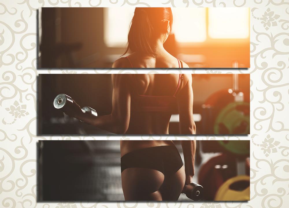Модульная картина Девушка в спортзале