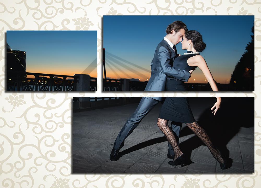 Модульная картина Танцующая пара