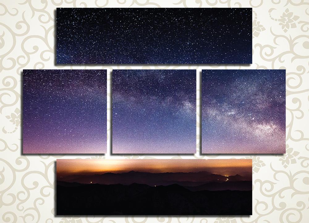 Модульная картина Звездное небо