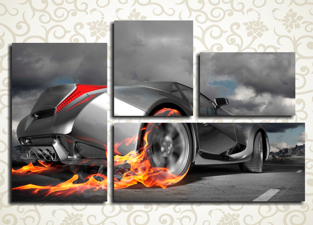 Модульная картина Пламенное авто