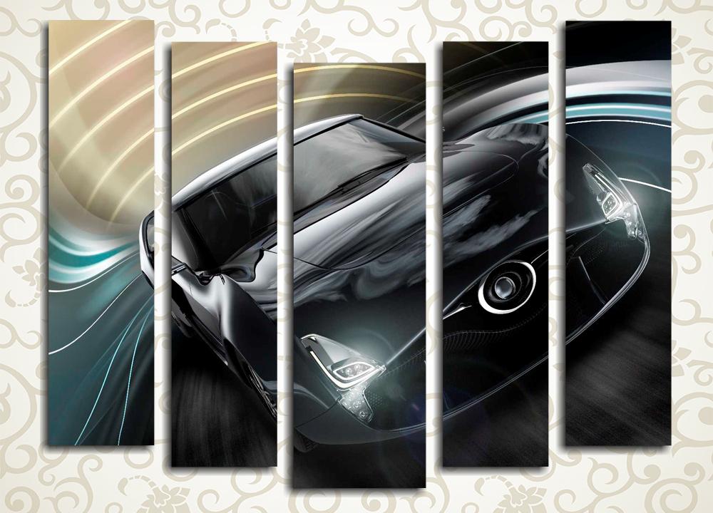 Модульная картина Черное авто