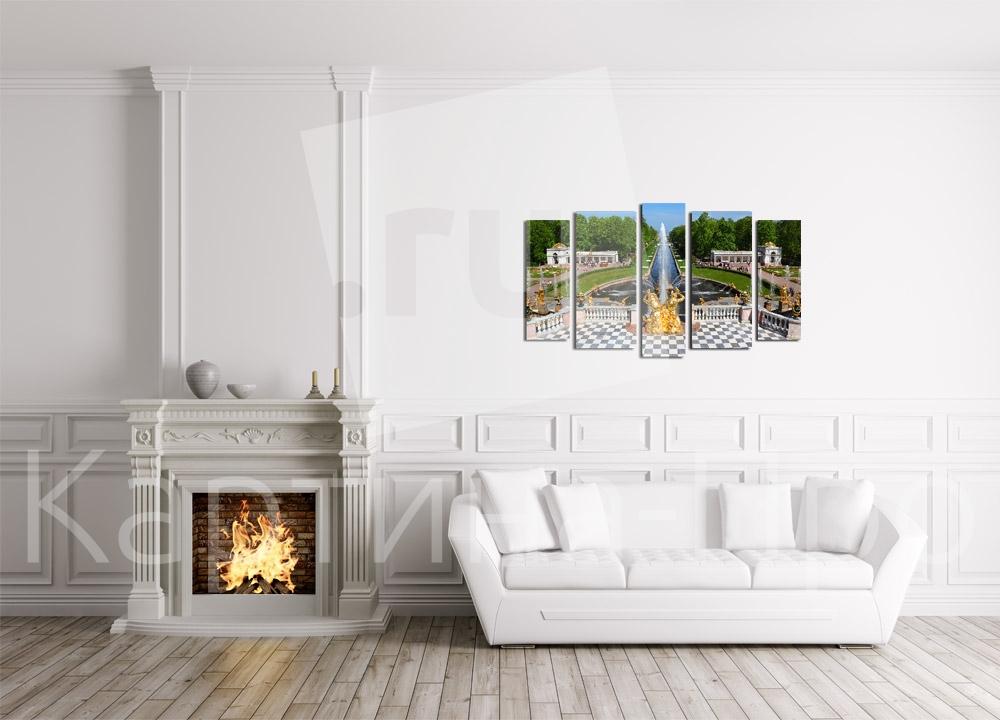 Модульная картина Фонтаны Петергофа от Kartina-Pro