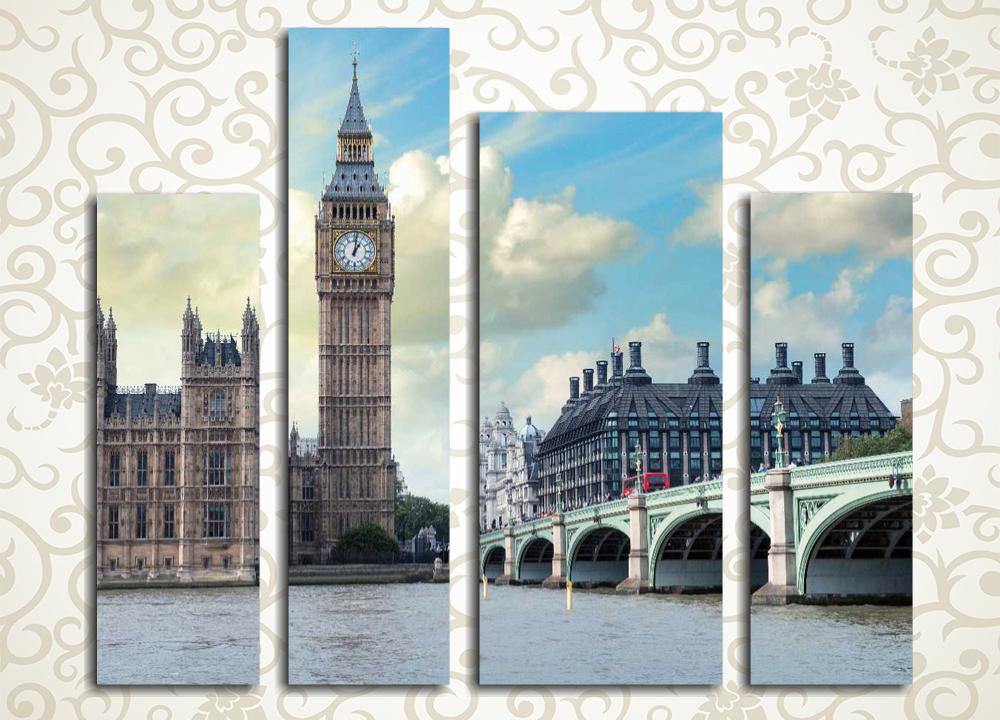 Модульная картина Биг-Бен в Лондоне<br>