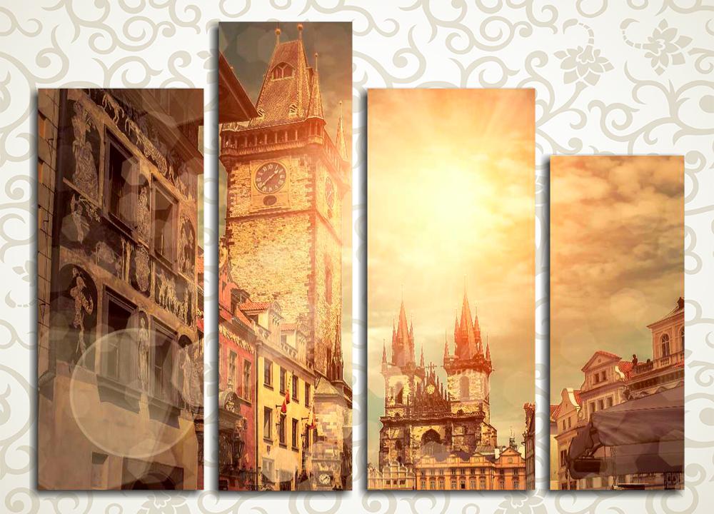 Модульная картина Прага на закате (Чехия)