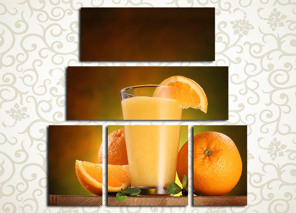 Модульная картина Апельсиновый фреш