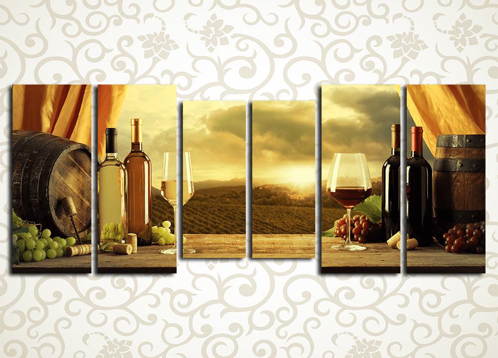 Модульная картина Домашние вина