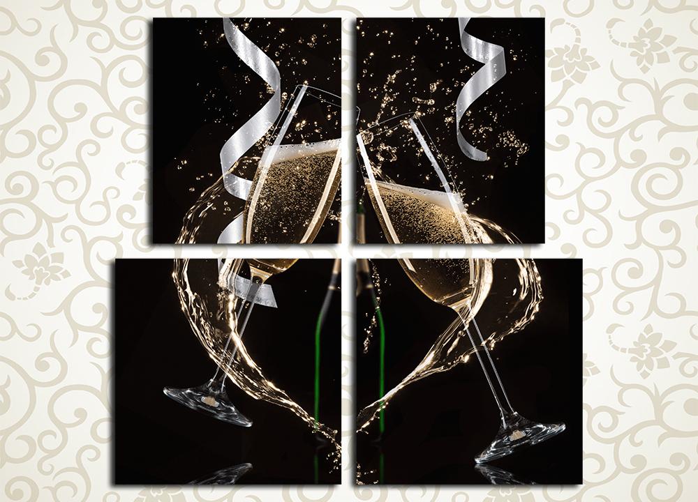 Модульная картина Праздничные напитки