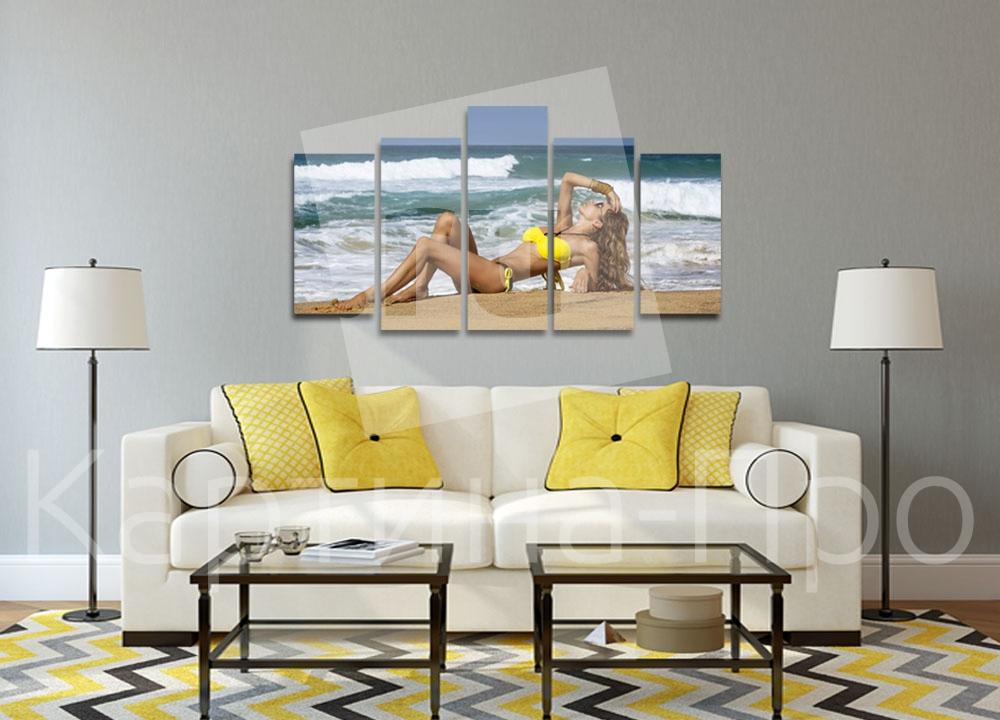 Модульная картина Девушка на пляже от Kartina-Pro