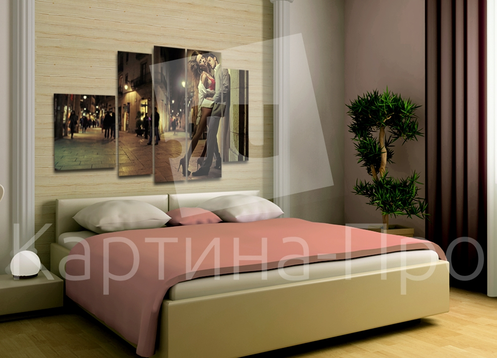 Модульная картина Ночное свидание от Kartina-Pro