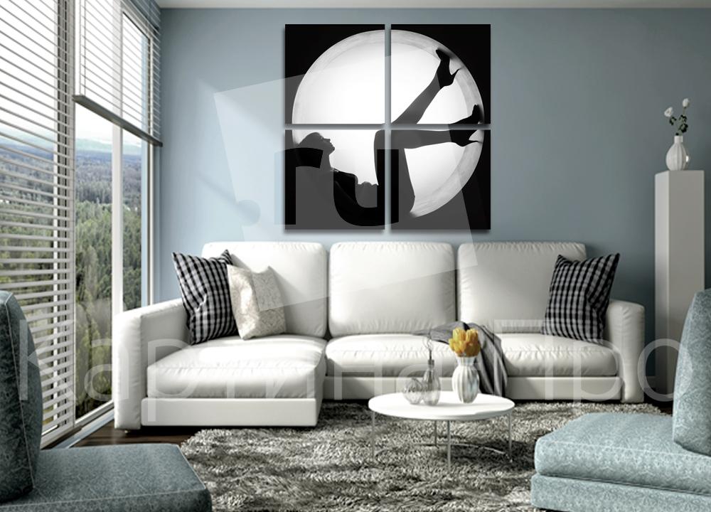 Модульная картина Силуэт женщины от Kartina-Pro