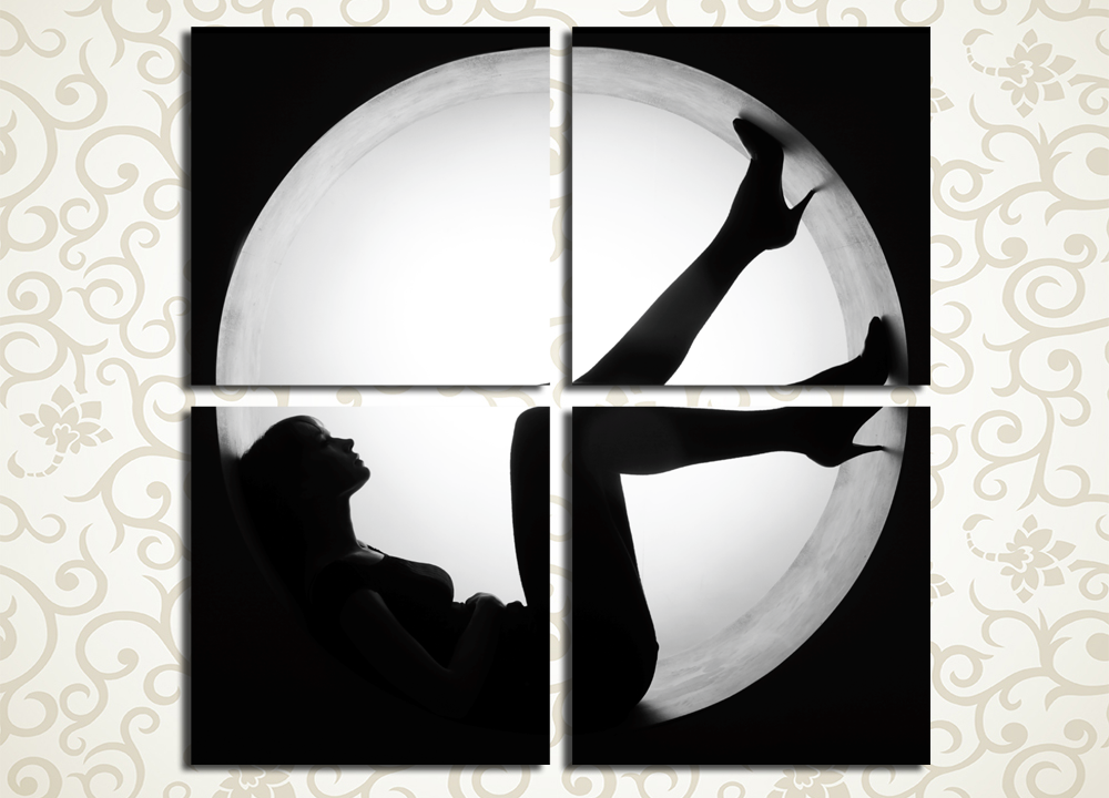 Модульная картина Силуэт женщины