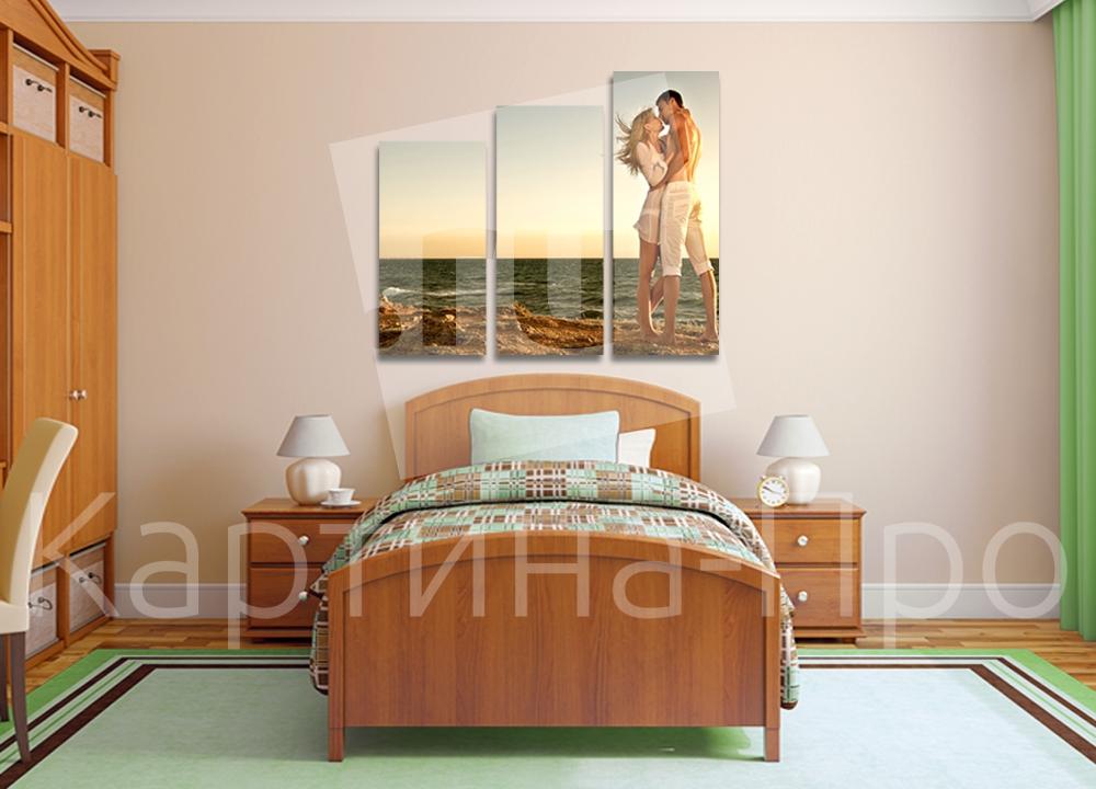 Модульная картина Свидание на берегу моря от Kartina-Pro