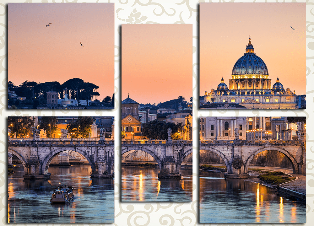 Модульная картина Рим. Базилика Святого Петра