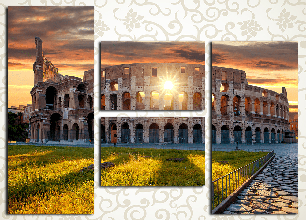 Модульная картина Рим. Колизей