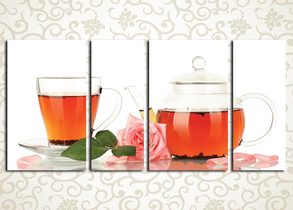 Модульная картина Розовый чай