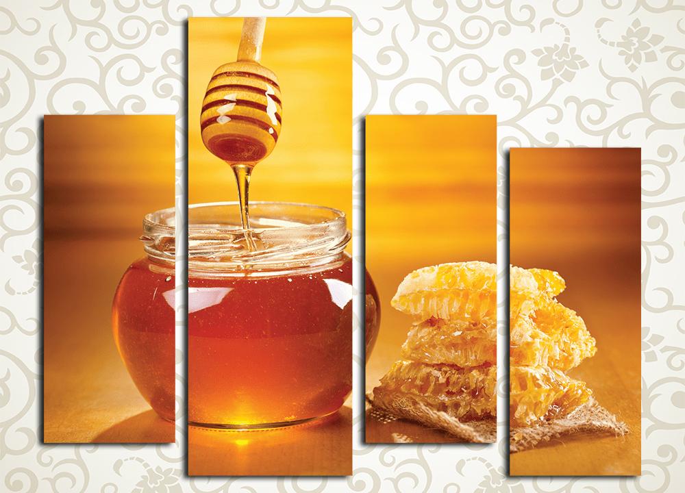 Модульная картина Солнечный мед<br>