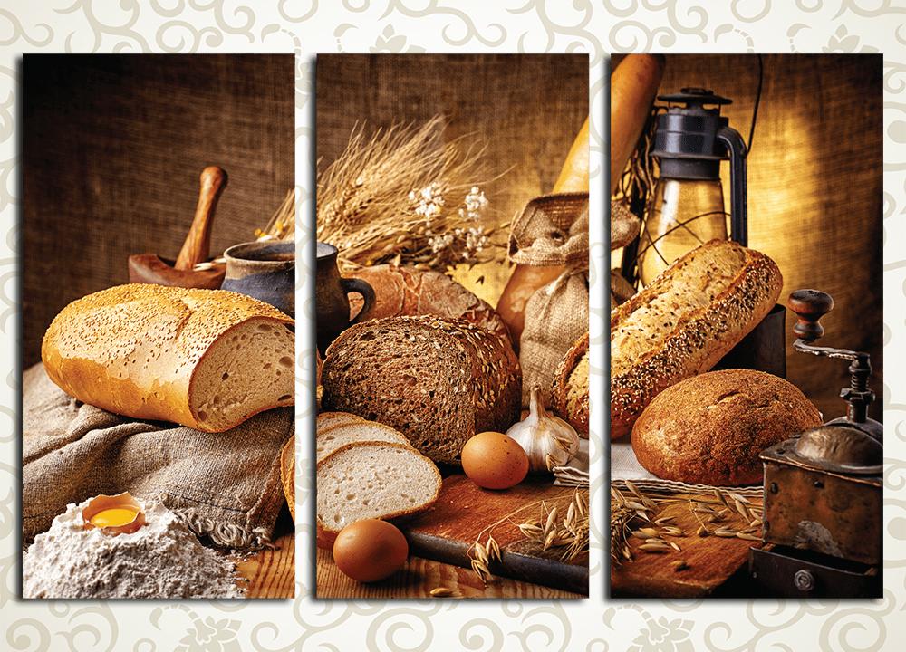 Модульная картина Деревенский хлеб<br>