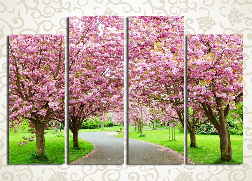 Модульная картина Сад цветущих деревьевЦветы и фрукты<br><br>