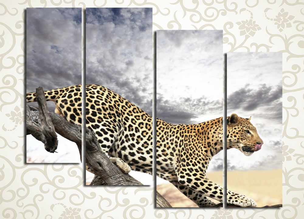 Модульная картина Грациозный леопард