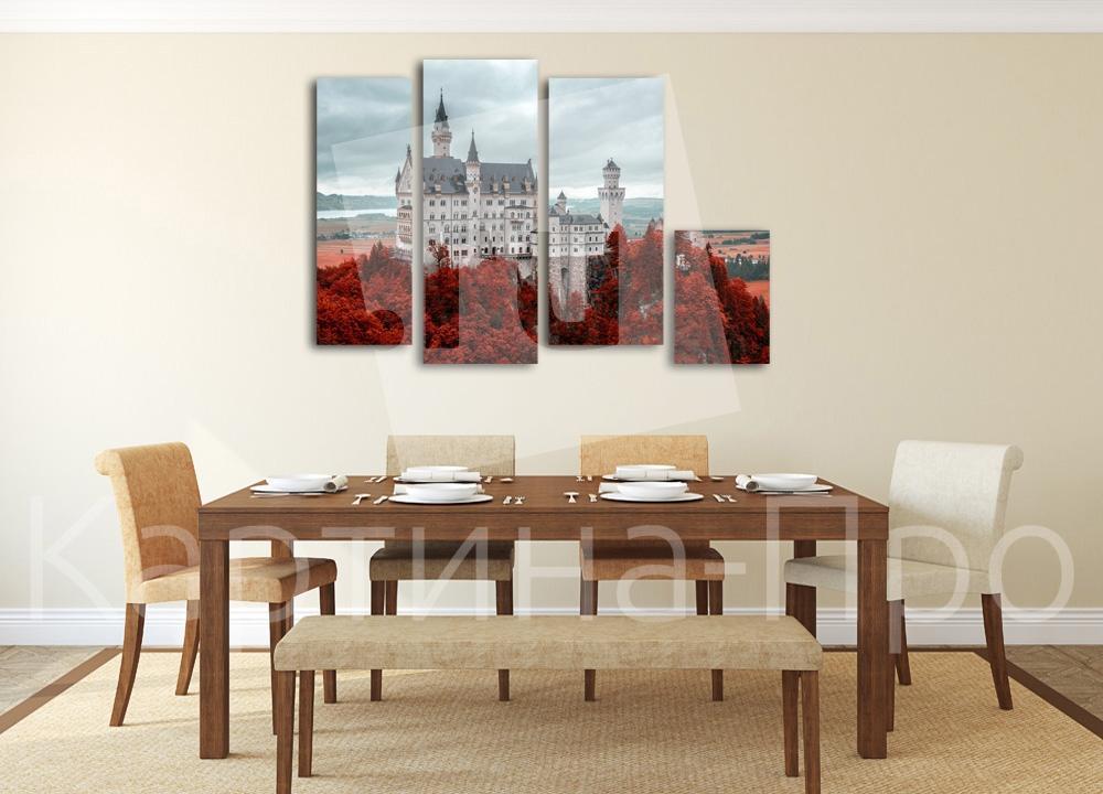 Модульная картина Сказочный замок от Kartina-Pro
