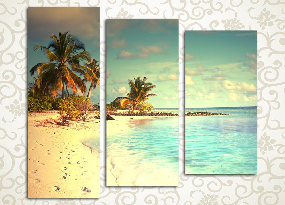 Модульная картина Белый пляж