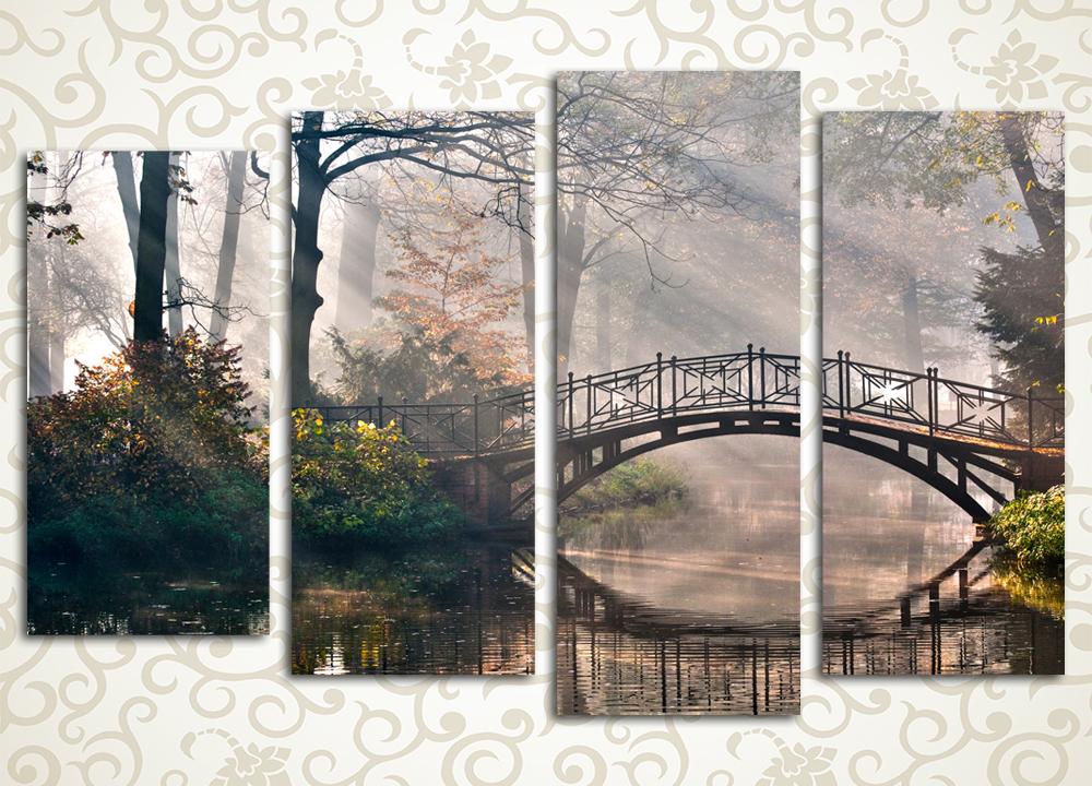 Модульная картина Таинственный мост