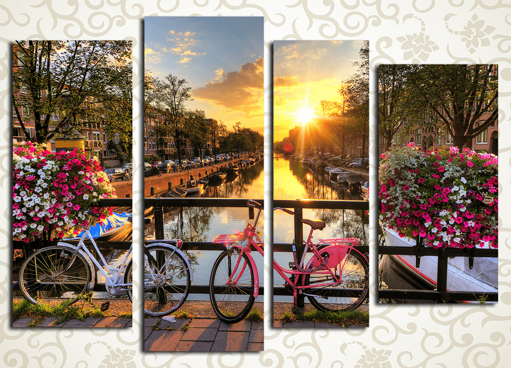 Модульная картина Мост в Амстердаме