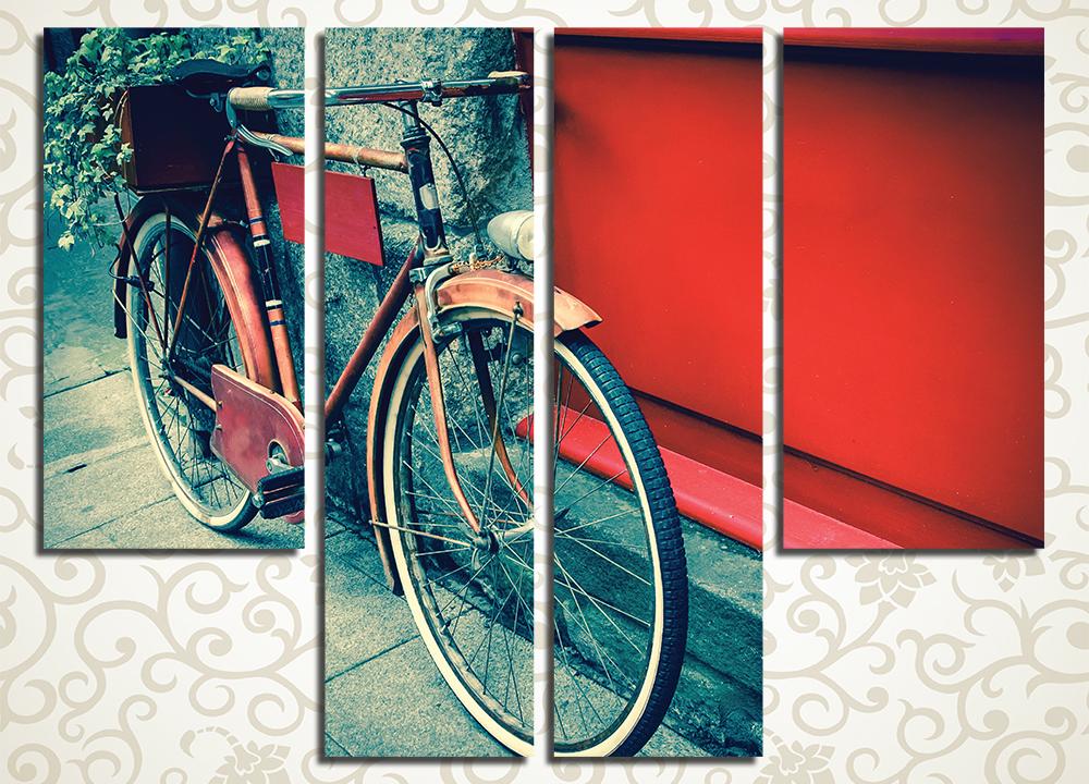 Модульная картина Ретро велосипед<br>